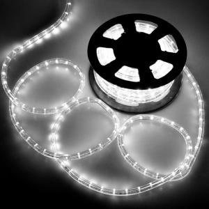 電源付き LEDチューブライト ロープライト ホワイト 白 2芯タイプ 10m 直径10mm 300球 クリスマスイルミネーション|succul-shop