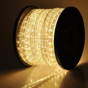 電源付き LEDチューブライト ロープライト シャンパンゴールド 温白 2芯100m 直径13mm 3000球 クリスマスイルミネーション|succul-shop