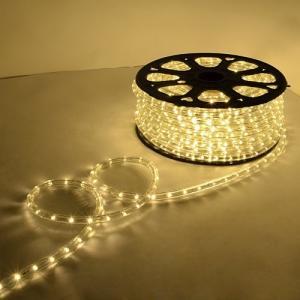 電源付き LEDチューブライト ロープライト シャンパンゴールド 温白 2芯タイプ 10m 直径13mm 300球 クリスマスイルミネーション|succul-shop