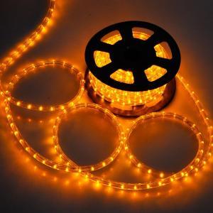 電源付き LEDチューブライト ロープライト イエロー 黄色 2芯タイプ 10m 直径10mm 300球 クリスマスイルミネーション|succul-shop