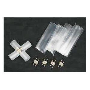 LEDロープライト(チューブライト)2芯タイプ直径10MM用十字型コネクタ SUCCUL succul 02