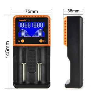 マルチ充電器 電池 全自動デジタル 2口充電 数字化 18650 リチウムイオン LCDスクリーン 4.2V/3.65V/1.5V バッテリー SUCCUL|succul|10