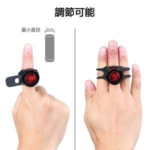 自転車ライト サイクルライト 電池式 3段階点滅 LED テールライト リアライト セーフティライト 防水|succul|06