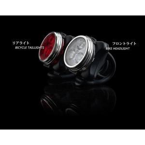 SUCCUL 自転車ライト サイクルライト USB充電 LED フロントライト リアライト 高輝度 強力照射 セーフティライト 防水|succul|03