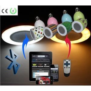 BluetoothスピーカーLED電球 LEDライトスピーカー ワイヤレススピーカー Bluetoothスピーカー搭載 LED電球 E26口金対応 (カバー色:ホワイト,発光色:電球色)|succul|06