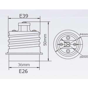 口金変換 アダプタ E39→E26 電球 ソケット 2個セット SUCCUL|succul|02