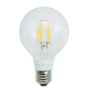 LEDクリア電球 フィラメント電球 ボール型LED電球 消費電力5W 調光器非対応タイプ 白熱電球40W相当 口金E26 電球色 PSE取得品 1年保証付|succul
