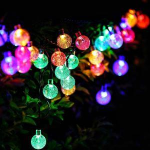SUCCUL LEDイルミネーション ボール型 5m 50球 ガラス球 コントローラー付き 防雨 クリスマス ライト 電飾 飾り succul 05