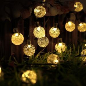 SUCCUL LEDイルミネーション ボール型 5m 50球 ガラス球 コントローラー付き 防雨 クリスマス ライト 電飾 飾り succul 06