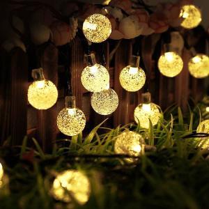 LEDイルミネーション ボール型 5m 50球 ガラス球 コントローラー付き 防雨 クリスマス ライト 電飾 飾り|succul|04