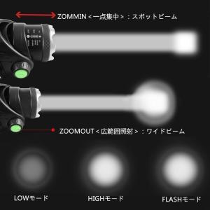 LEDヘッドライト 懐中電灯 アウトドア 3モード ズーム可 1200LM CREE XML T6 ヘッドランプ 防水防災 電池 充電器 USB充電 調節可 高光量 軽量 SUCCUL|succul|05