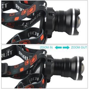 SUCCUL LEDヘッドライト 懐中電灯 乾電池 3モード ズーム調整可能 1800LM CREE XML T6 ヘッドランプ 防災 調節可 高光量 軽量|succul|04