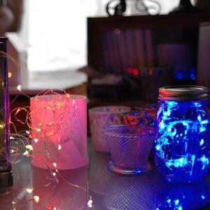 SUCCUL LEDジュエリーライト 電池式 30球3M LEDイルミネーションライト 白 電球色 赤 青 緑 オレンジ|succul|03