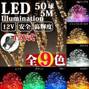 LEDイルミネーション ジュエリーライト 12V 5m 50球 ワイヤー クリスマスライト succul