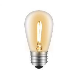 LEDクリア電球 フィラメント電球 エジソンランプ 消費電力1W 口金E26 色温度2700k 電球...
