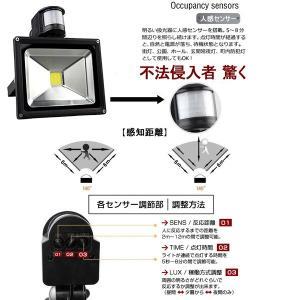 LED投光器 20W 200W相当 センサーライト 人感 3M配線付 屋外 昼光色 防犯ライト 駐車場 倉庫 防水加工 広角 防水 SUCCUL|succul|03