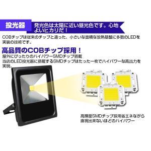 LED投光器 薄型 10W 100W相当 防水 ACプラグ付 3M配線 LEDライト 集魚灯 作業灯 防犯 ワークライト 看板照明 昼光色 広角 SUCCUL succul 05