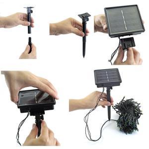 LEDイルミネーション ソーラー充電式 8パターン 50球 5m 自動ON/OFF クリスマス 屋外 防雨|succul|05