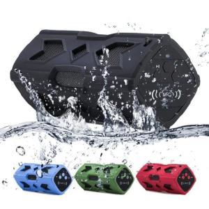 ポータブル Bluetooth4.0 スピーカー ワイヤレススピーカー 内蔵マイク 防水 NFC搭載 パッテリー 充電器|succul