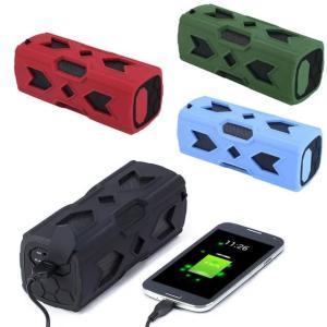ポータブル Bluetooth4.0 スピーカー ワイヤレススピーカー 内蔵マイク 防水 NFC搭載 パッテリー 充電器|succul|02