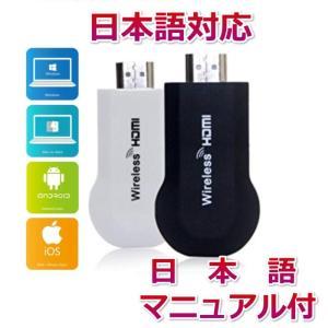 SUCCUL Wireless HDMI転送器 iOS、Androi d、 Windows、MAC通用Wireless H DMIディスプレイDLNA, Google Mi racast, EZAir (Airpaly)対応 succul