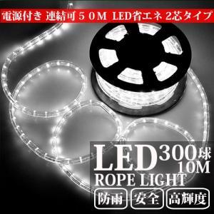 電源付き LEDチューブライト ロープライト 全7色可選 2芯タイプ 10m 直径10mm 300球 クリスマスイルミネーション|succul|05