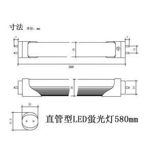 SUCCUL 直管LED蛍光灯580mm 昼光色 20W型 9W PSE取得品 グロー式工事不要 1年保証付 3本セット 送料無料|succul|02
