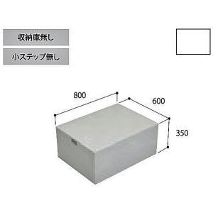 joto代引き不可 勝手口ステップ ハウスステップ CUB-8060-A2 収納庫なし 城東テクノ|sudasyop
