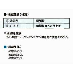 通気弁付洗面排水トラップ ジコボ君S 取替え用 32Ax455|sudasyop|03