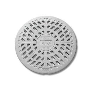 マンホール Joto 丸マス格子蓋 耐圧タイプ 雨水300型(直径328mm) 樹脂製 JT2-300KW(穴あり) 城東テクノ|sudasyop