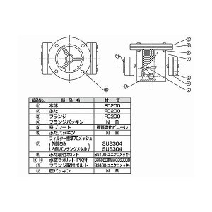 TB式砂取器 (鋳鉄製)TB3736 25A 東邦工業|sudasyop|02