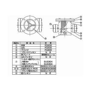TB式砂取器 (鋳鉄製)TB3736 40A 東邦工業|sudasyop|02