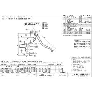 手押しポンプ 32サイズ T32U 打込型 (木玉皮付) 東邦工業|sudasyop|02