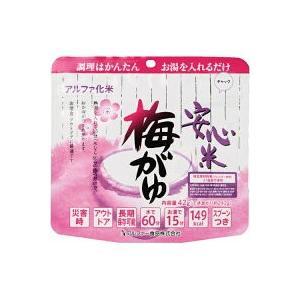 米 ポイント消化 非常食 アルファ米 送料無料 梅がゆ 2個セット|suehiro-cop