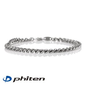 綱引き ファイテン phiten 正規品 チタンチェーンブレスレット 21cm ブランド メンズ レディース スポーツ 送料無料 TC03 セール