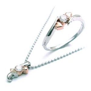 プラチナK18PGダイヤモンドリング ペンダント ネックレス【今だけ代引手数料無料】 suehiro