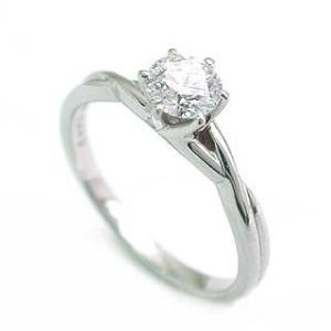 立爪 エンゲージリング ダイヤモンド ダイヤ プラチナ リング 婚約指輪 ソリティア|suehiro