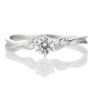 鑑定書付き エンゲージリング ダイヤモンド プラチナ リング 婚約指輪   ダイヤモンドをダイヤモン...