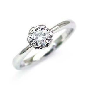 鑑定書付き エンゲージリング ダイヤモンド ダイヤ プラチナ リング 婚約指輪|suehiro