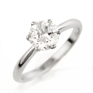 婚約指輪 エンゲージリング ダイヤモンド ダイヤ リング 指輪 人気 ダイヤ プラチナ リング 1カラット 夏|suehiro