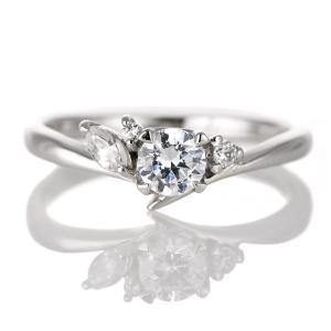 婚約指輪 ダイヤモンド ダイヤ プラチナ リング 0.3ct 天然石 珍しい カット エンゲージリング 鑑定書 セール クリスマス プレゼント suehiro