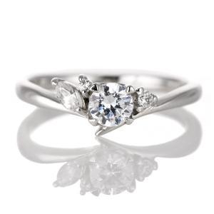 婚約指輪 ダイヤモンド ダイヤ プラチナ リング 0.3ct 天然石 珍しい カット エンゲージリング 鑑別書 夏|suehiro