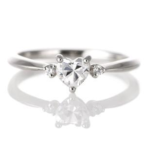 婚約指輪 ダイヤモンド ダイヤ プラチナ リング ハート 天然石 サイドダイヤモンド エンゲージリング セール クリスマス プレゼント suehiro