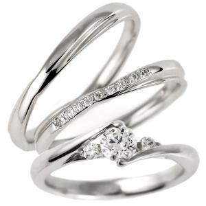 婚約指輪 結婚指輪 セットリング ダイヤモンド プラチナ マリッジリング ペアリング エンゲージリング 重ねて セール クリスマス プレゼント|suehiro
