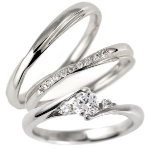 婚約指輪 結婚指輪 セットリング ダイヤモンド プラチナ マリッジリング ペアリング エンゲージリング 重ねて|suehiro