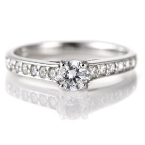 婚約指輪 ダイヤモンド ダイヤ プラチナ リング 0.3ct 天然石 エンゲージリング 鑑別書 夏|suehiro