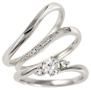 婚約指輪 結婚指輪 重ね付け セットリング プラチナ ダイヤモンド マリッジリング ペアリング エンゲージリング セール クリスマス プレゼント|suehiro