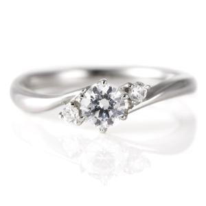 婚約指輪 ダイヤモンド ダイヤ プラチナ リング 0.3ct 天然石 サイドダイヤモンド エンゲージリング 鑑別書 夏|suehiro