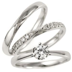 婚約指輪 結婚指輪 重ね付け セットリング プラチナ ダイヤモンド エンゲージリング マリッジリング ペアリング|suehiro