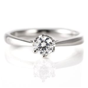 婚約指輪 ダイヤモンド ダイヤ プラチナ リング 0.3ct 天然石 エンゲージリング 鑑定書 夏|suehiro
